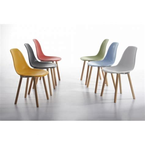 Modern Dining Room by Charles Eames Inspired Copenhagen Cream Dining Chair Cult Uk
