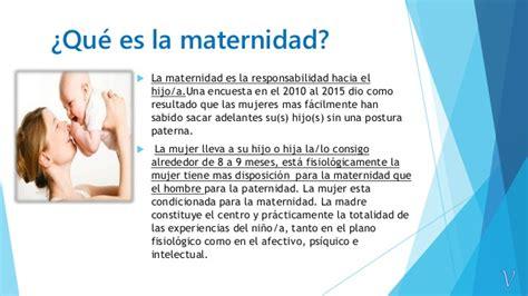 la maternidad y el maternidad y paternidad responsable porcarlatorres