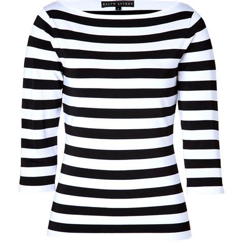 Stripe Tops 740 ralph black label black white striped boatneck