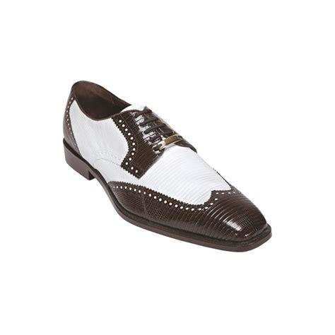 belvedere antonio lizard wingtip spectactor shoes brown