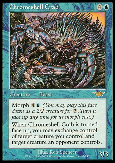 exposure is and shell promptly tell you its skin cancer chromeshell crab magic the gathering card info