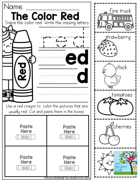 color words worksheet color word practice and tons of other printable for