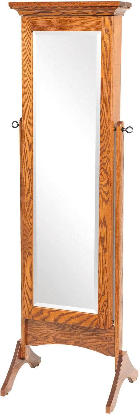 standing jewelry armoire mirror cheval mirrors amish furniture by brandenberry amish