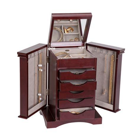 armadietto legno armadietto cofanetto portagioie in legno finitura mogano