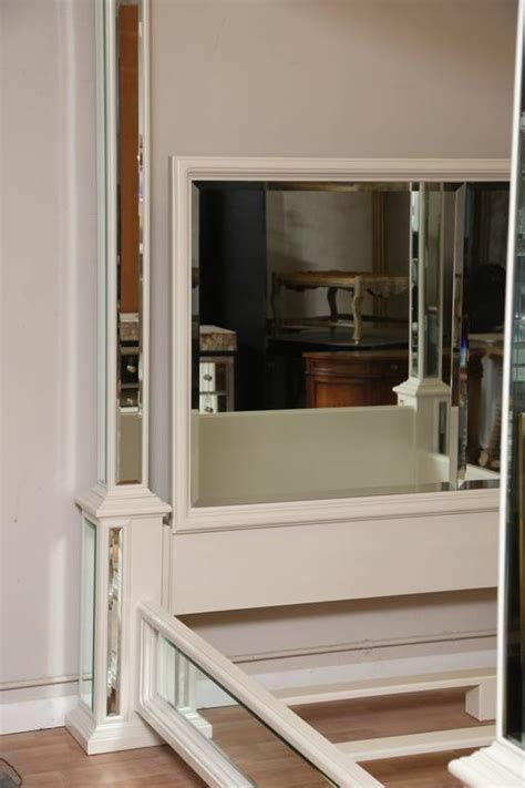 mirror bed frame modern king size canopy mirrored bed at 1stdibs