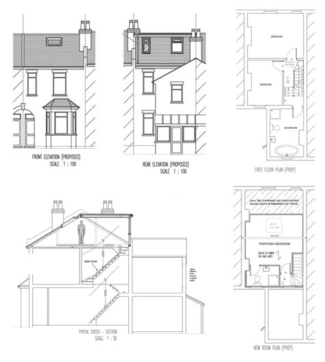 Terraced House Loft Conversion Floor Plan | terraced house loft conversion design ideas house design
