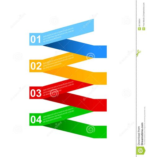bilder design business step paper and numbers design template stock