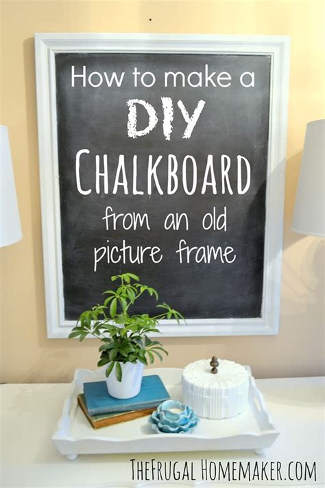 chalkboard diy how to make a diy chalkboard from an picture frame