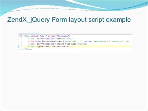 jquery form layout design introduction to zendx jquery