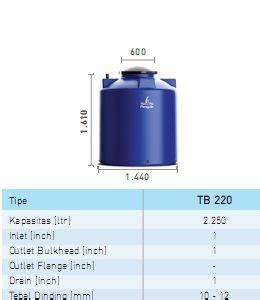 Penguin General Tank Tb 200 Blue tb 300 kapasitas 3100 liter tangki air penguin