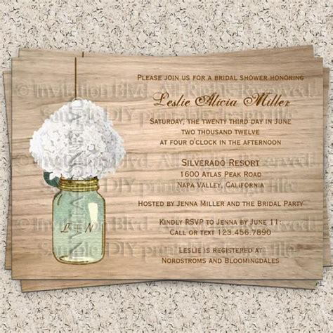 country rustic jar bridal shower invites 2 bridal shower invitation rustic bridal shower invitation jar flowers country wooden