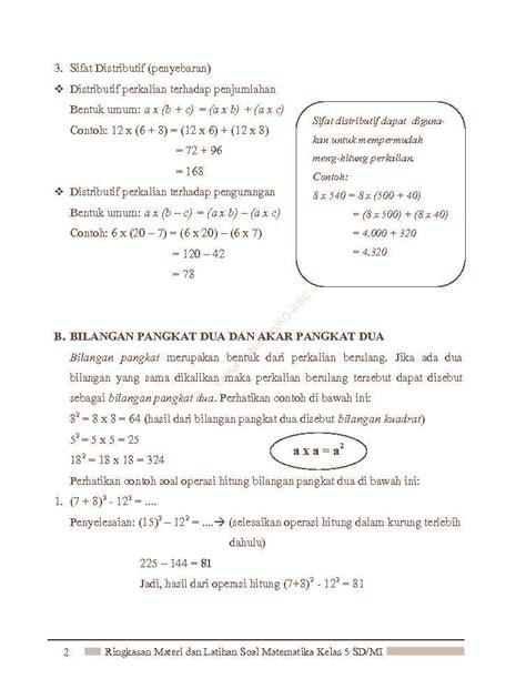 Jual Buku Soal Sd Kelas 5 by Jual Buku Ringkasan Materi Dan Latihan Soal Matematika