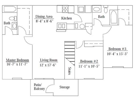 acc floor plan images 3 bedroom apartments montreal rooms 3 bed 2 bath apartment in macomb il turnberry village