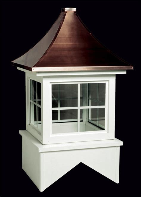 a cupola trenton aluminum glass cupola with copper roof