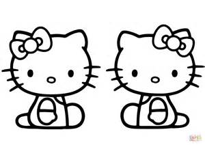 Hello Kitty Mimmy Coloring Pages | mimmy and kitty coloring page free printable coloring pages