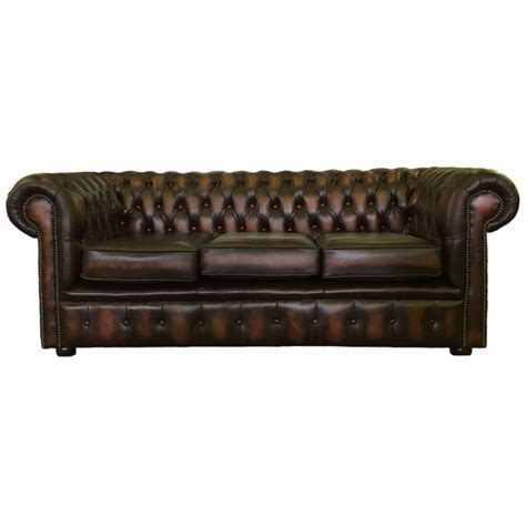 Chesterfield Sofa Ebay by Vintage Style Chesterfield Three Seater Sofa Bed Available