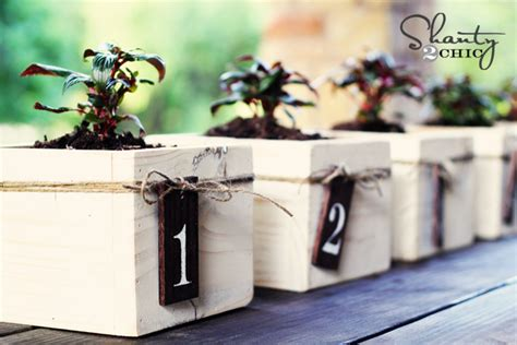 diy centerpiece mini planter boxes shanty 2 chic