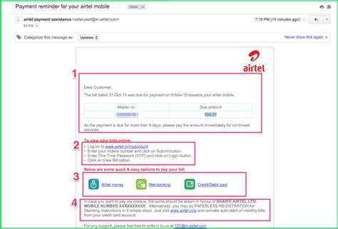 pay airtel postpaid mobile bill writing for pay airtel postpaid bill