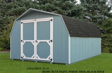 amish built mini barn sheds in pa md nj glick woodworks