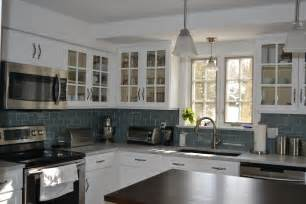Kitchen With Glass Backsplash by How To Install Electric Outlets On A Kitchen Island Home