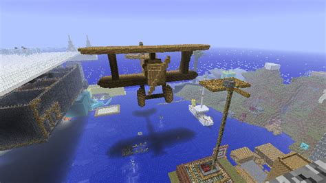 minecraft boat plane move craft fly planes captain boat