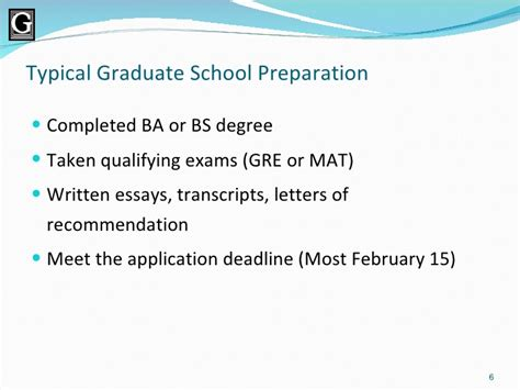 Mba Prep Deadlines by Why Gallaudet For Graduate School
