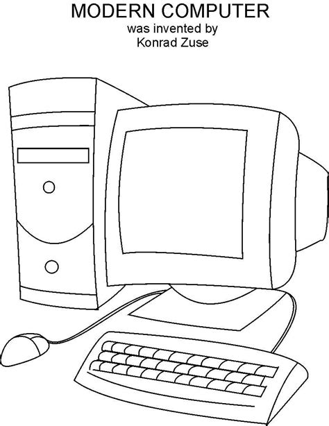 computer coloring pages computer coloring printable page