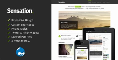 drupal theme user menu sensation responsive drupal theme by tabvn themeforest