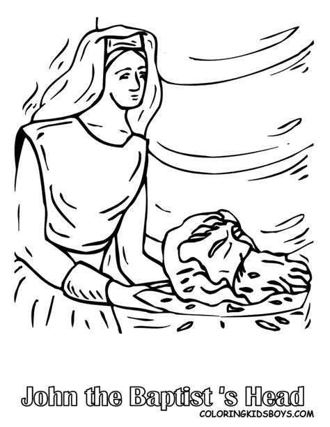 John The Baptist For Children S Crafts On Pinterest The Baptist Coloring Pages