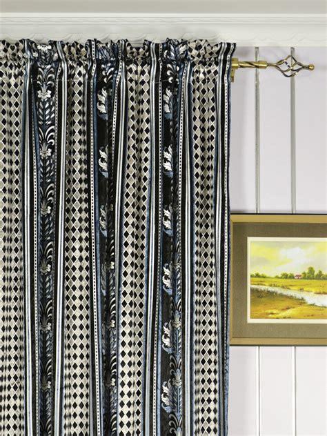 Antique Velvet Curtains Maia Antique Damask Rod Pocket Velvet Curtains