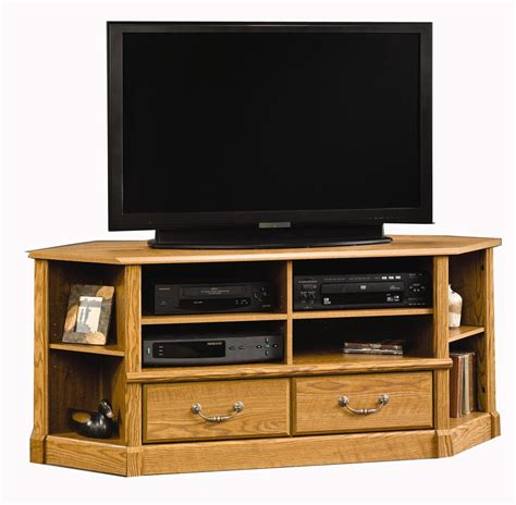 sauder corner tv sauder orchard hills 403818 corner entertainment credenza