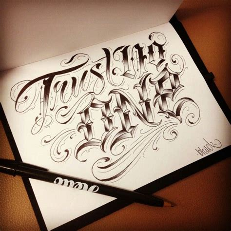 trust no one tattoo designs trust no one lettering
