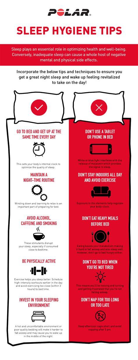 sleep hygiene tips infographic polar blog - Sleep Hygiene