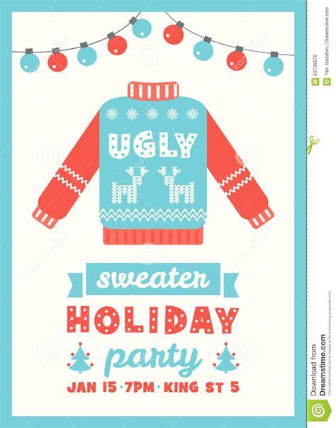 sweater card template sweater invitation card stock vector