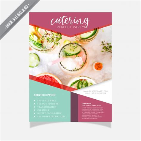 catering brochure templates catering brochure template vector premium