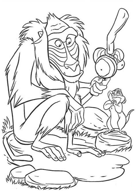 free baboon coloring pages