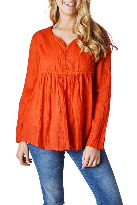 New Blouse new namastai womens blouses sleeved cotton shirt