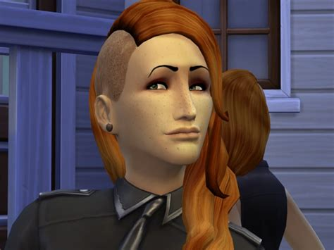 shaved hair sims 4 shaved hairs am af eyes and lips at the path of nevermore