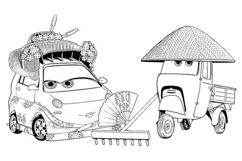 Coloring Pages Cars 2 Francesco Cars 2 Coloring Pages Francesco