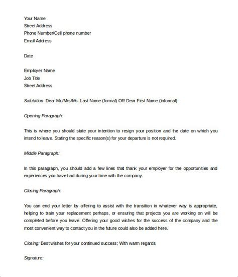 40 Two Weeks Notice Letter Templates Free Pdf Formats Two Week Notice Email Template