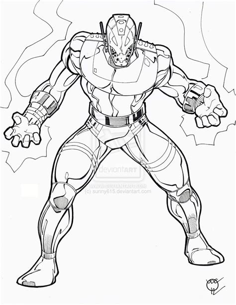Coloring Page Ultron | ultron coloring pages az coloring pages