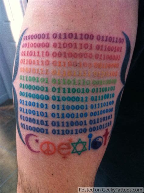 a geeky pride tattoo geeky tattoos