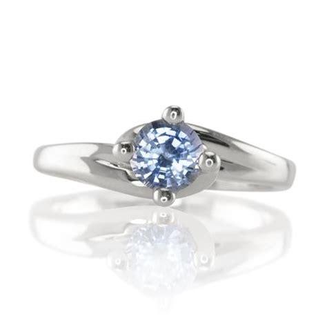 an enchanting light blue sapphire twist ring the