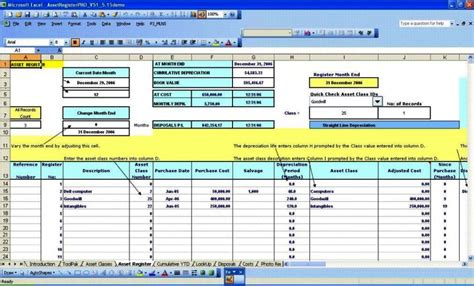 fixed asset register excel template fixed asset register excel template sletemplatess