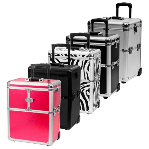 hair and makeup travel case rolling makeup artist aluminum train hair stylist lock