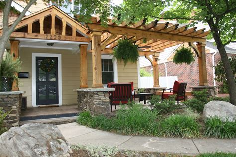 How To Build Bathroom In Basement by Outdoor Living Covered Porch Pergola By Creative Abundance
