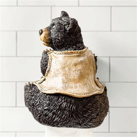 cute toilet paper holder unique funny cute wall mounted bear toilet paper holder