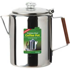 coffee pot walmart coghlan s 12 cup coffee percolator 1342 stainless steel