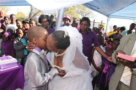 south african schoolboy aged nine marries 62 year old woman for second time