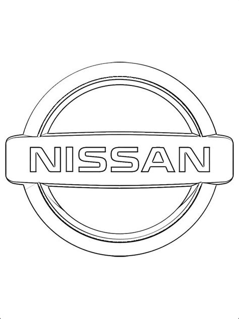 coloring pages car logos coloring page nissan logo coloring pages